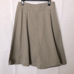 Women's beige summer skirt size 14
